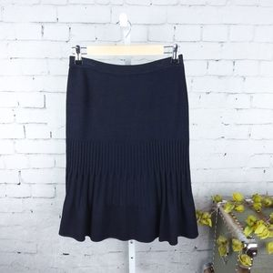 St. John Collection Ribbed Knit Skirt Black Size 4